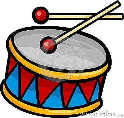 Drum clip art cartoon illustration