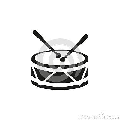 Free Drum Icon. Design. Music And Toy Symbol. Web. Graphic. AI. App. Logo. Object. Flat. Image. Sign. Eps. Art. Picture - Stock Photos - 79807683