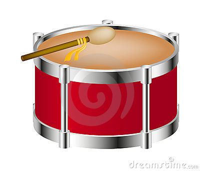 Drum instrument with big drumstick