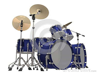 Drum Kit isolated on a white