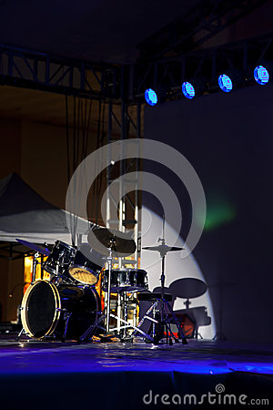 Drum kit,stage