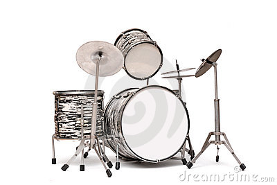 Drum Kit on a white background