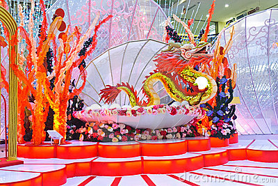 Drum Performance Chinese New Year stage background