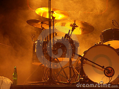 Drum-set before the concert
