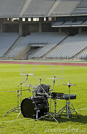Drum set at the Stadium