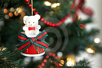 Drummer Bear Ornament