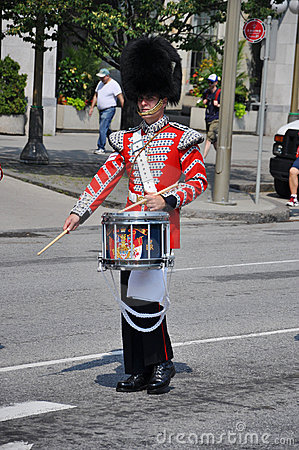 Drummer in Changing of Guard, Ottawa Editorial Image