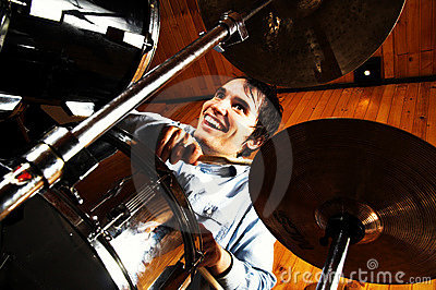 Drummer in drums