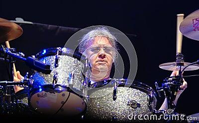Drummer Ian Paice. Deep Purple. Editorial Photography