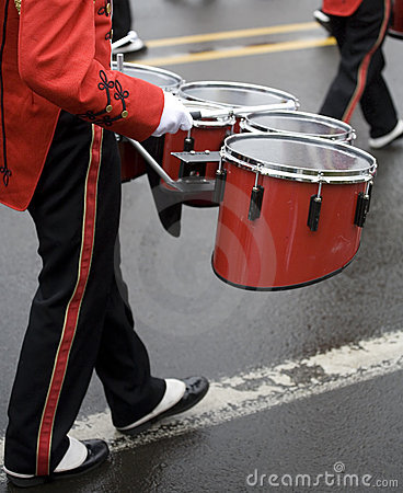 Drummer in a Marching Band
