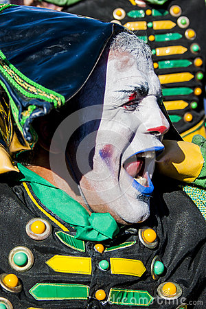 The Drummer mime in St.Petersburg Editorial Stock Photo