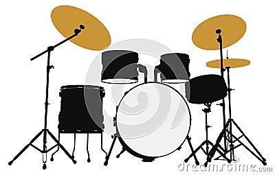 Drummer  outline silhouette