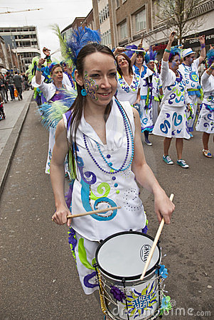 A drummer from Street Heat Samba Band Editorial Image