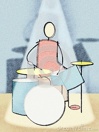 Drummer watercolor