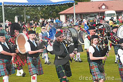 Drummers in the band at Nairn. Editorial Photo