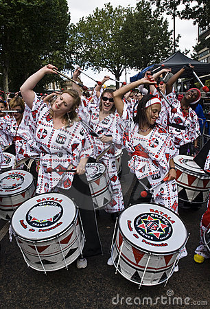 Drummers from Batala Banda de Percussao Editorial Stock Photo