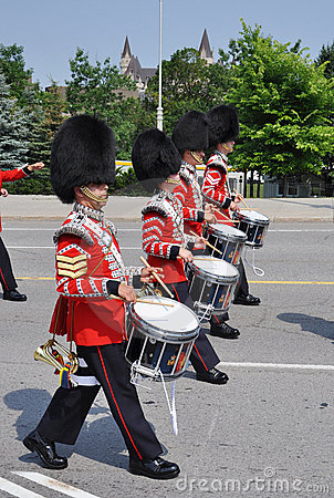 Drummers in Changing of Guard, Ottawa Editorial Image