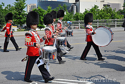 Drummers in Changing of Guard, Ottawa Editorial Stock Image