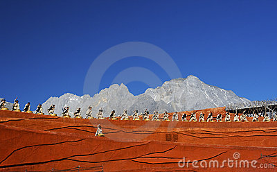 Drummers performing at Impression Lijiang Editorial Stock Image