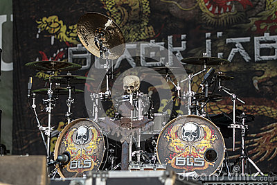 Drums of Chad Szeliga - Black Label Society Editorial Photo
