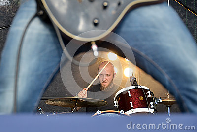 Drums and guitar Editorial Photography