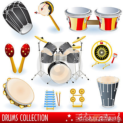 Free Drums Music Collection Royalty Free Stock Images - 13168599