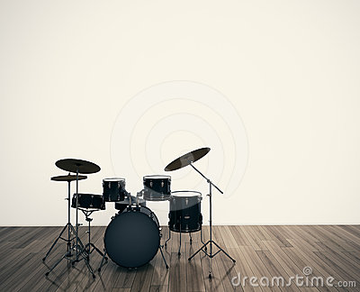 Drums musical tool Stock Photo