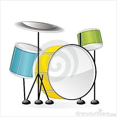 Drums - Set of musical instruments in vector