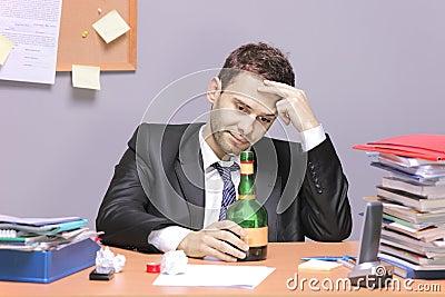 A drunk businessman