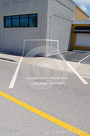 Drunk driver reserved parking