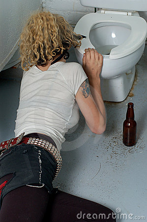 Drunk girl in a public toilet 2