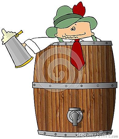 Drunk Man In A Beer Barrel