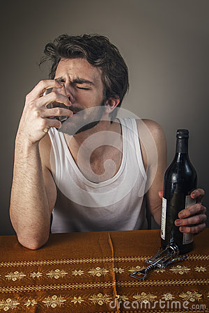 Free Drunk Man Crying Royalty Free Stock Images - 48826439