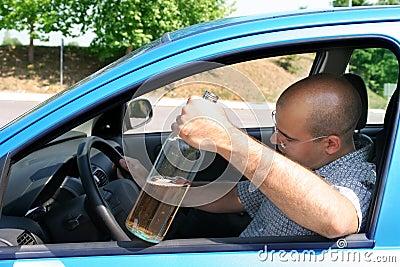 Drunk man in drivers