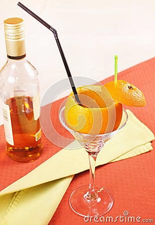 Drunk Orange  cocktail in a glass