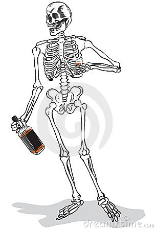Drunk skeleton