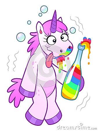 Free Drunk Unicorn Stock Images - 108929084