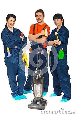 Drużynowi usługa czyścić pracownicy