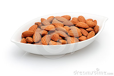 Bowl full of almonds