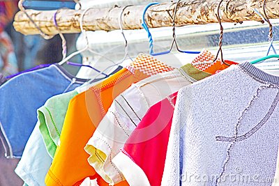 Dry Clothes In The Air Royalty Free Stock Image Image