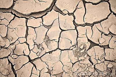 Dry cracked clay background texture