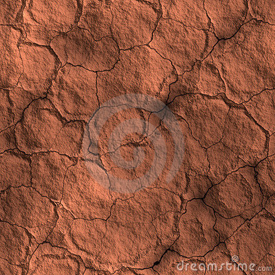 Dry cracked earth drought