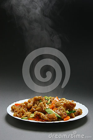 Free Dry Crispy Beef In Soy Sauce Royalty Free Stock Image - 28222736