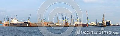 Dry dock s in Hamburg Harbour