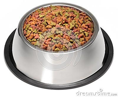 Dry Dog Pet Food Bowl