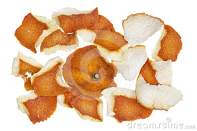 Dry dusty orange peel