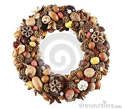 Free Dry Fruit Wreath Stock Image - 22123211