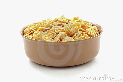 Dry Generic Corn Flakes in Bowl