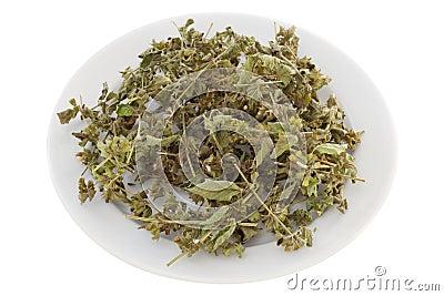 Dry herb melissa