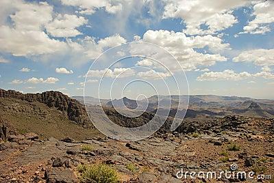 Dry mountain desert, Morroco